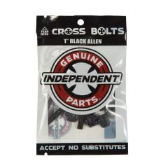 """Винты для скейта Independent Allen Hardware 1"""" Black"""
